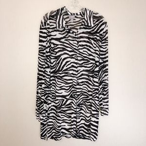 Chico's Zebra Print Sheer Tunic Top - Size 3 (XL)